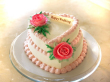 2 Layer Heart Shape Cake $165
