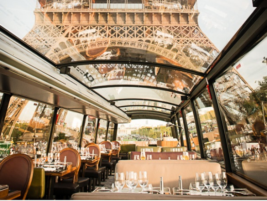 Bustronome Gourmet French Lunch or Dinner on a Luxury Bus with