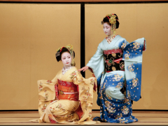 Kyoto maiko dancing in Gion