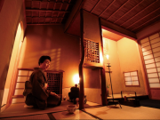 Tea ceremony by candlelight in Kyoto