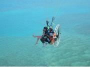 paraglider flight okinawa