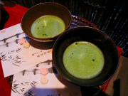 Fresh matcha green tea for a sado tea ceremony