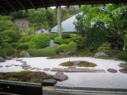 The rock garden of Jomyoji Temple