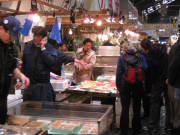 Shopping in the inner market of Tsukiji