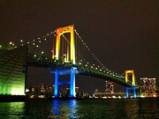 Rainbow Bridge from the surface of the Sumida