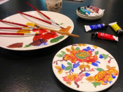 Faience painting class 2