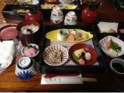 A kaiseki style Kyoto cuisine dinner