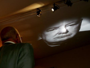 Winston Churchill video projection in new visitor experience at Blenheim Palace.23e6464444b364ef6c8e3dcb93513fda