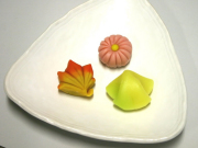 Autumn style sweets in Kyoto