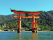 Floating torii gate of Itsukushima Shrine