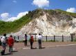 Jigokudani Valley and steaming hot spring