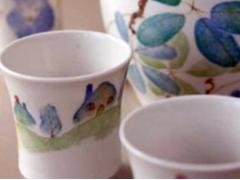 Handmade Hakodate style ceramic cups