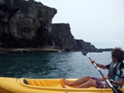 Kayaking along the Manza Cape