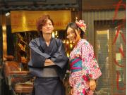 Japanese couple in kimono
