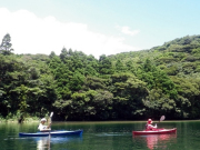Paddling on a quiet river in Yakushima