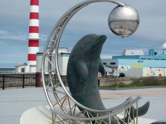 ノシャップ公園「恵山泊漁港公園から見る稚内灯台」