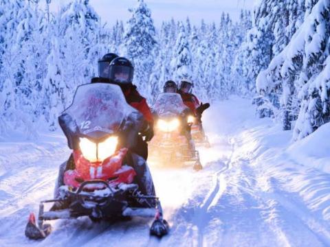 銀世界を駆け抜ける!スノーモービルで行く 北極圏観光半日ツアー<12月~4月/午後/ロヴァニエミ発>