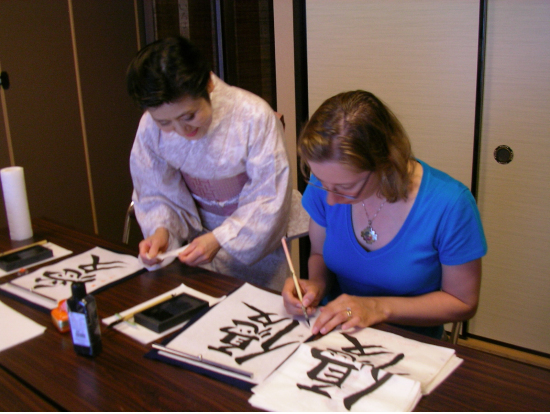 Half day art of japanese calligraphy class in a local home