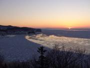 ワシの観察流氷見晴らし橋DSC00192