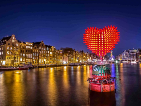 Amsterdam Light Festival Evening Canal Cruise Amsterdam