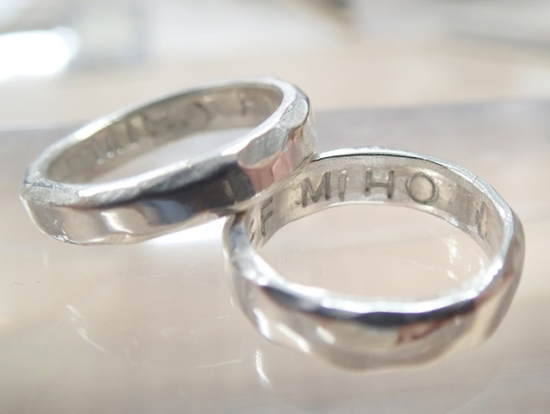 make your own silver promise rings or wedding rings in tokyo - Make Your Own Wedding Ring