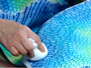 Creating unique dye art with coral