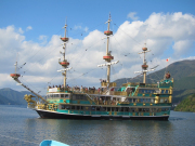 Pirate ship cruise on Lake Ashinoko