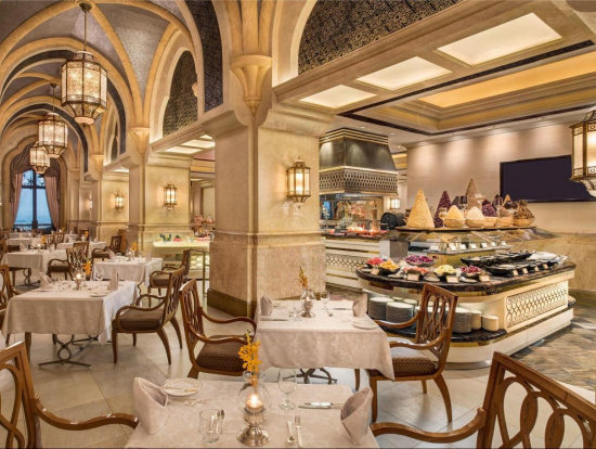 Enjoy A World Class And Luxurious Lunch Or Dinner Buffet At Emirates Palaces Le Vendme Restaurant While Savoring Your Meal Admire The Beautiful Views Of