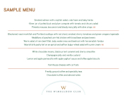 Wimbledon Club Menu