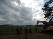 Trekking around our farm field