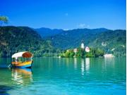ブレッド湖とボート