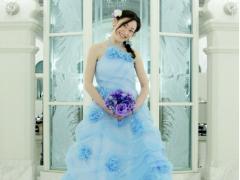 お姫様体験青ドレス