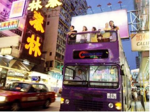香港名物オープントップバス 夜景ツアー