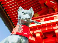 Fushimi Inari Fox Statue cropped