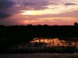 カンボジア夕陽