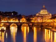 サン・ピエトロ大聖堂、夜