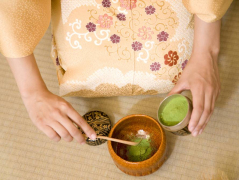 Tea ceremony bowl and powder cropped