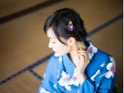 Girl in yukata cropped
