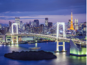 Night skyline Tokyo Bay cropped
