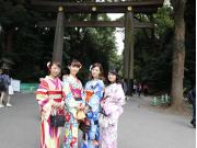 kimono group Meiji Jingu gate