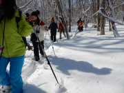 氷の滝体験スノーシュー