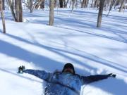 オホーツク自然堂/フカフカの雪