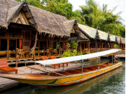 Traditional long-tail boat cruise