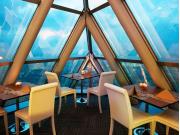 Interiors of Bangkok Sky Restaurant