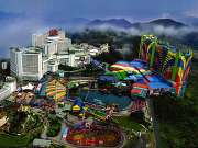genting highlands resort theme park aerial view
