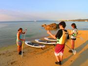 -まずはビーチで練習