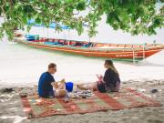 Beach Picnic Koh Samui Island Thailand