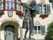 St. Gilgen, village, austria, mozart, statue