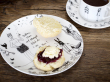 Plate, scone, cup