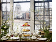 Afternoon Tea with view landscape